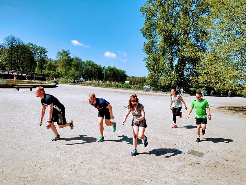 Laufgruppe Hamburg Stadtpark Ralfletics - Alles läuft Sprünge