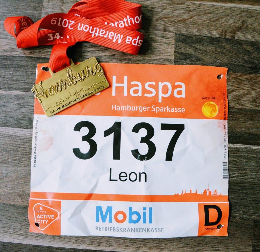 Medaille Haspa Marathon 2019