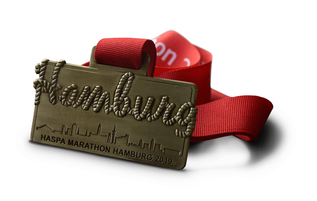 Hamburg Marathon Medaille 2019