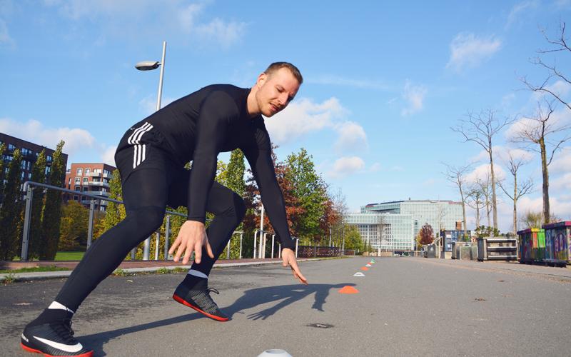 Hütchenlauf Sporttest Hamburger Polizei