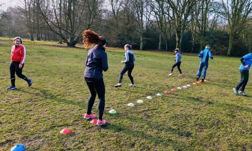 Laufgruppe Hamburg Stadtpark Leon Ralf - Hütchen Training