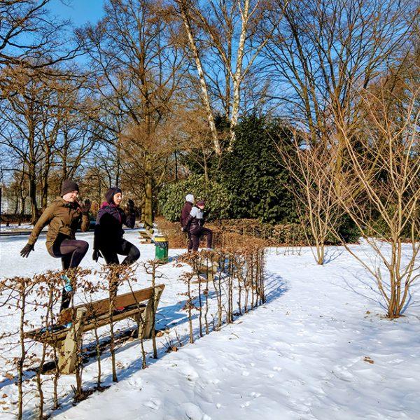 Laufgruppe Hamburg Stadtpark Ralfletics - Alles läuft Winter Beinbeuger